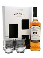 Bowmore 12y Islay Single Malt Scotch Whisky Gift Pack+2Bc 40° cl.70